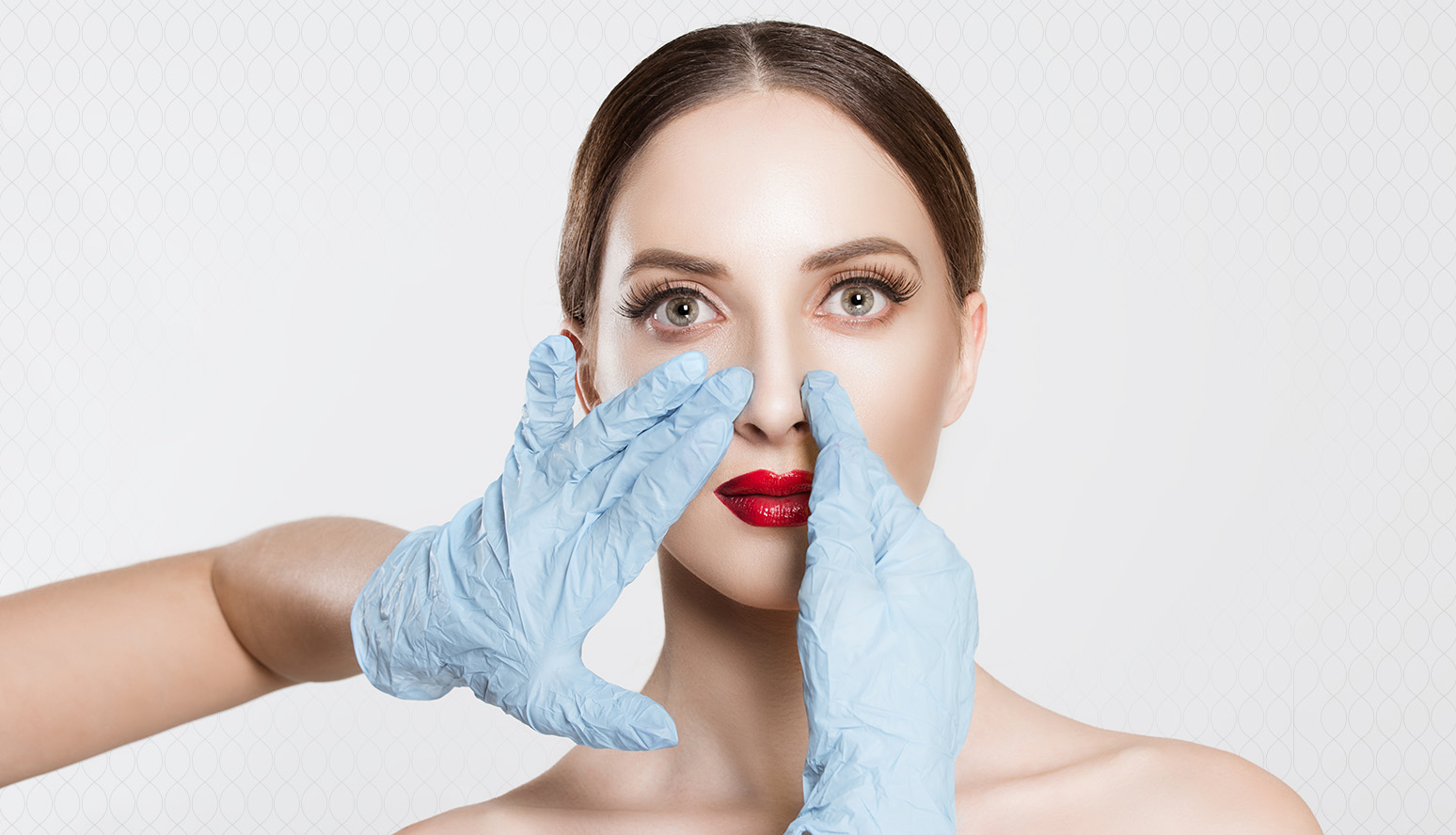 Reducing the nose with plastic surgery